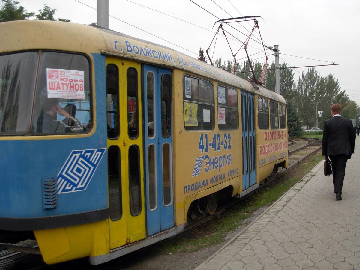 Волжский. Tatra T3SU №105