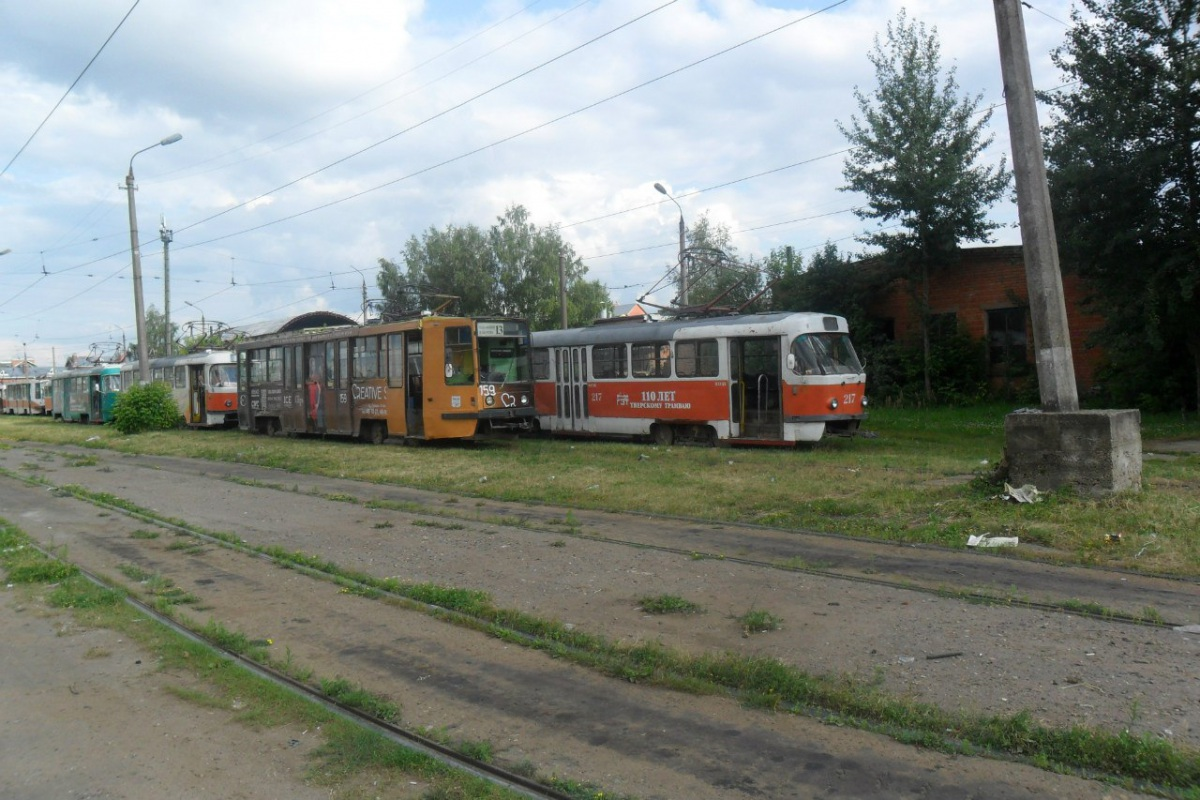Тверь. Tatra T3SU №217, 71-608К (КТМ-8) №159