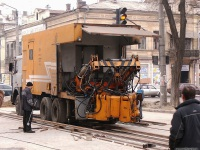 Одесса. Укладка новых трамвайных путей на улице Преображенской