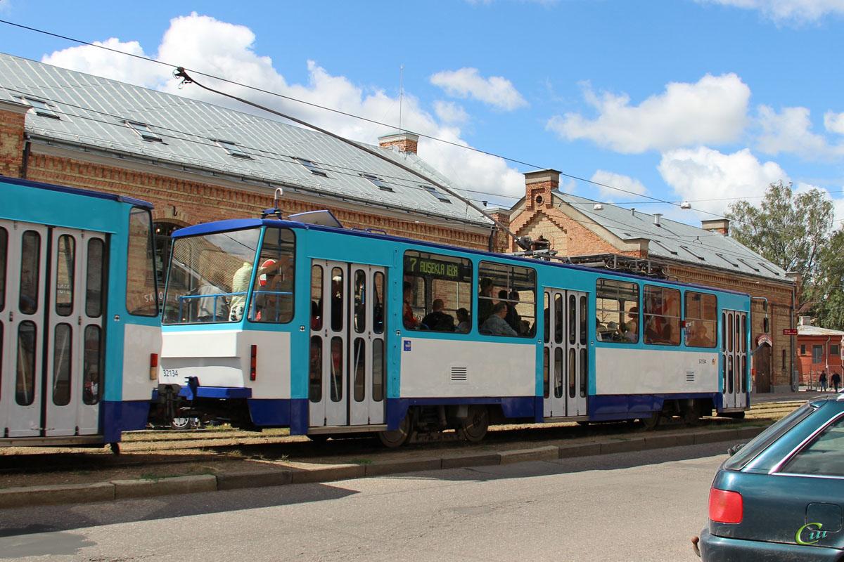 Рига. Tatra T6B5 (Tatra T3M) №32134