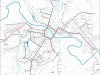 Схема маршрутов муниципиального транспорта Тулы по состоянию на апрель 2014 года (актуальная на сегодняшний день)