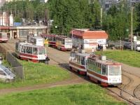 Санкт-Петербург. ЛВС-86К №5024, ЛМ-68М №5681, ЛМ-68М №5448
