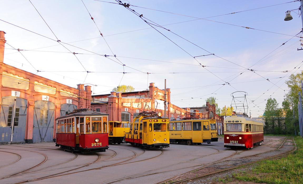 Санкт-Петербург. ЛМ-47 №3521, МС-4 №2575, РШМв-1 №РШ-009, ГМ-63 №1882