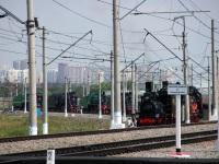 Москва. Участники парада паровозов