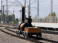 Москва. Макет первого русского паровоза, построенного в 1834 году братьями Черепановыми