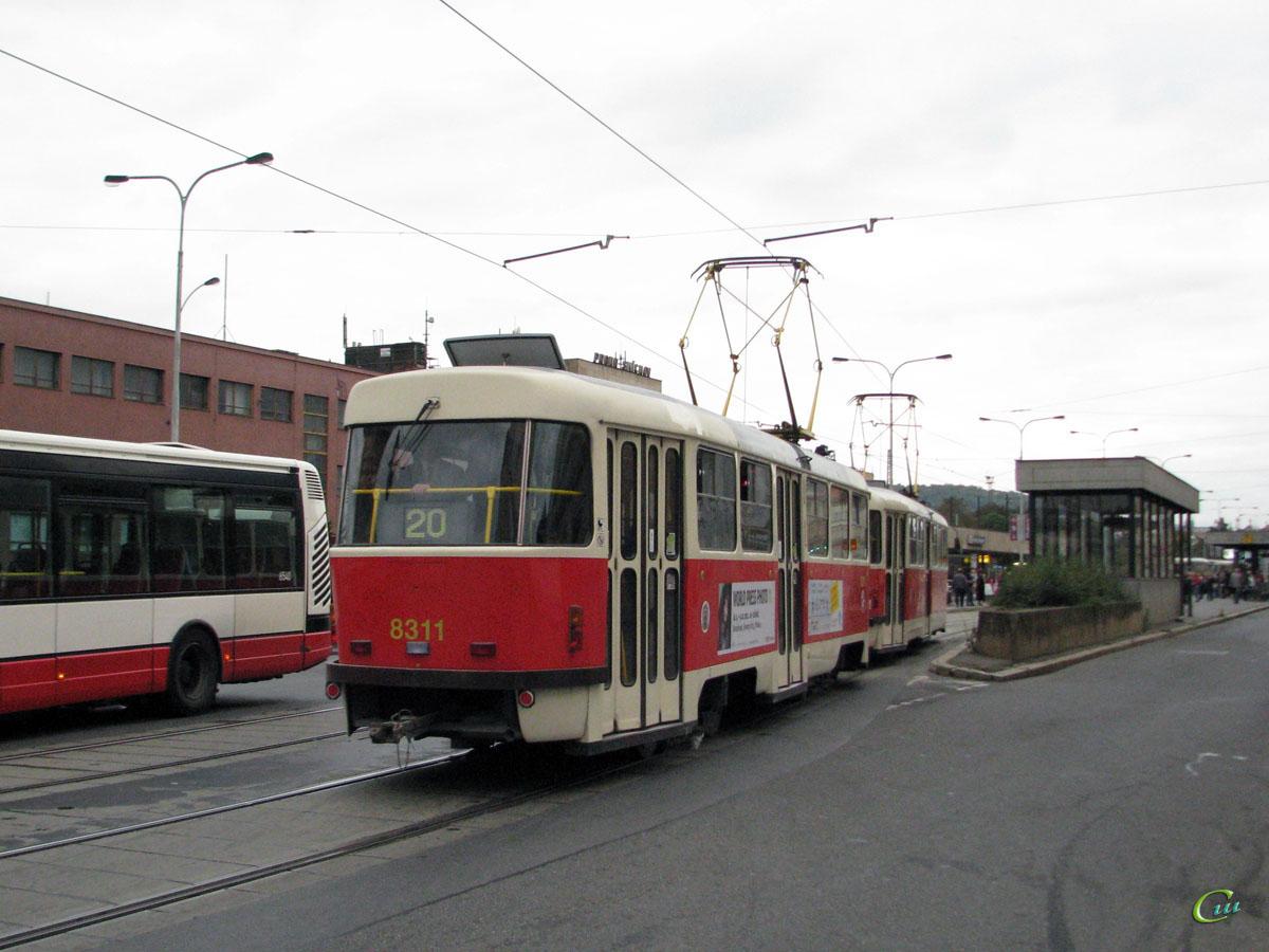 Прага. Tatra T3 №8311
