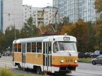 Москва. Tatra T3 (МТТЧ) №3376
