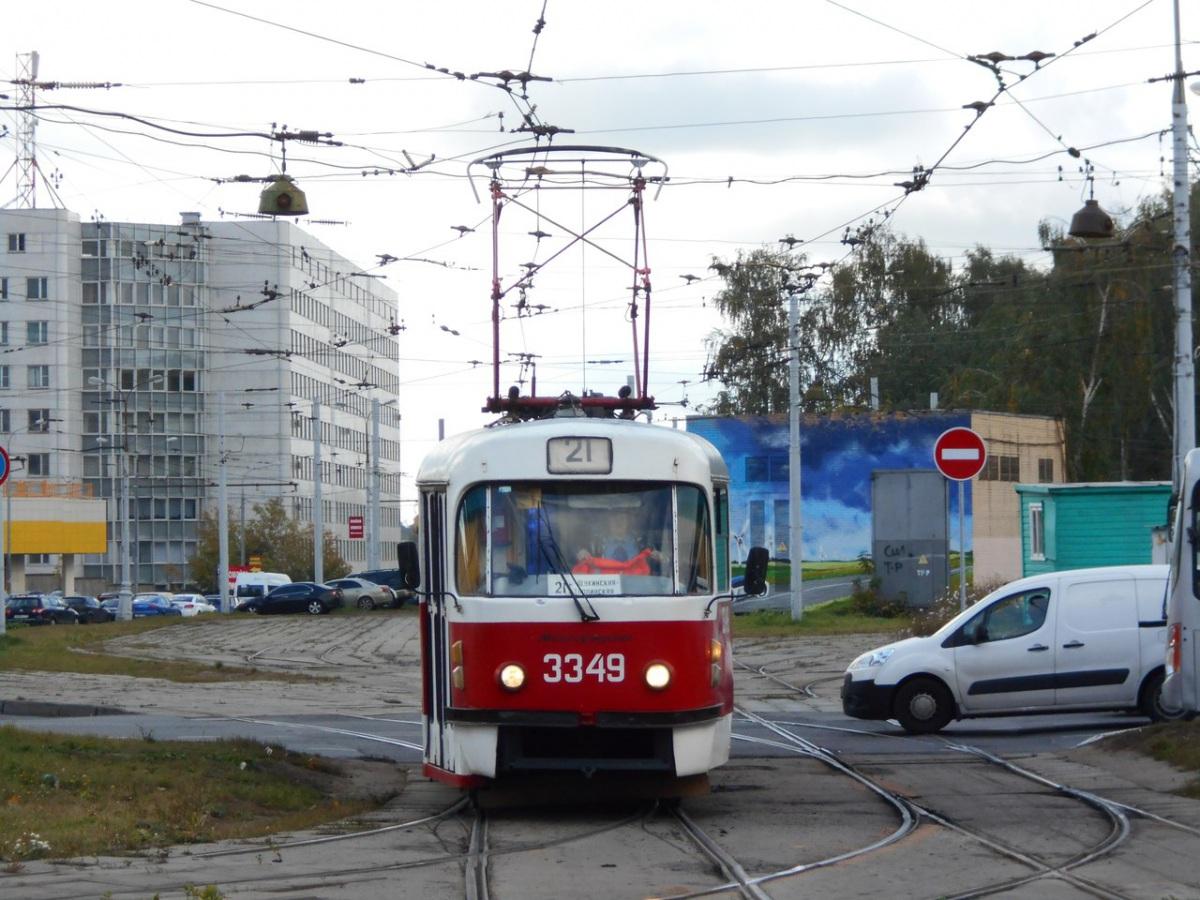 Москва. Tatra T3 (МТТМ) №3349