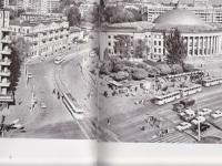 Киев. Пересечение трамвайной и троллейбусной линий на площади Победы