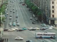 Москва. Троллейбусная линия по улице Горького и ЗиУ-5 на ней