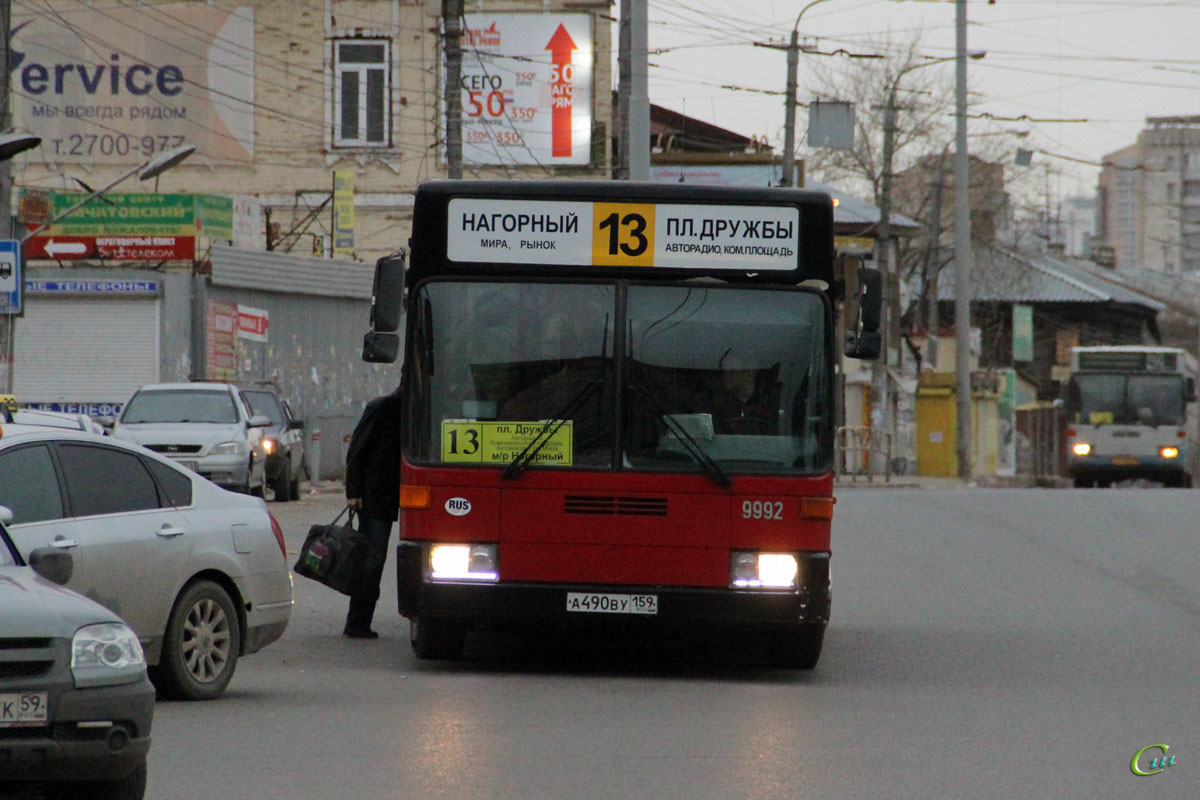 Пермь. Mercedes O405N а490ву