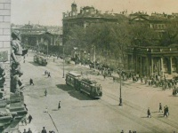 Санкт-Петербург. Составы трамваев Brush на проспекте 25-го Октября