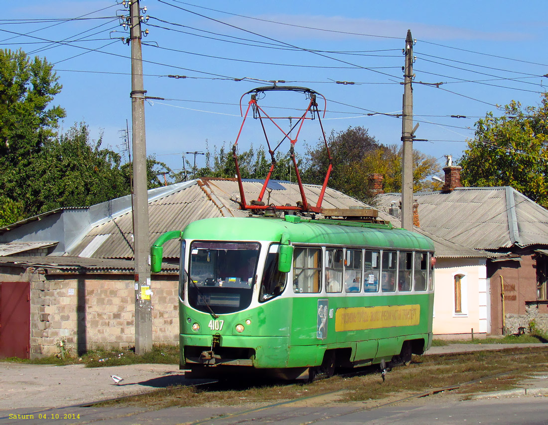Харьков. Tatra T3ВПА №4107