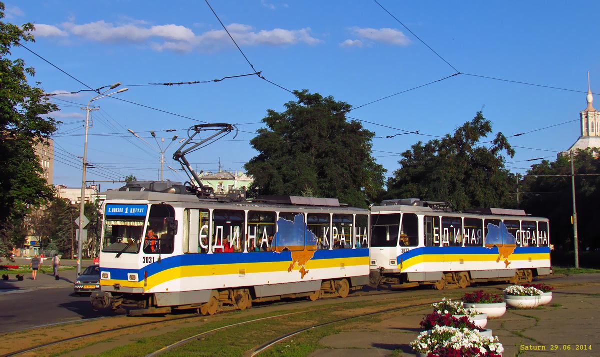 Днепропетровск. Tatra T6A2 №3031, Tatra T6A2 №3032