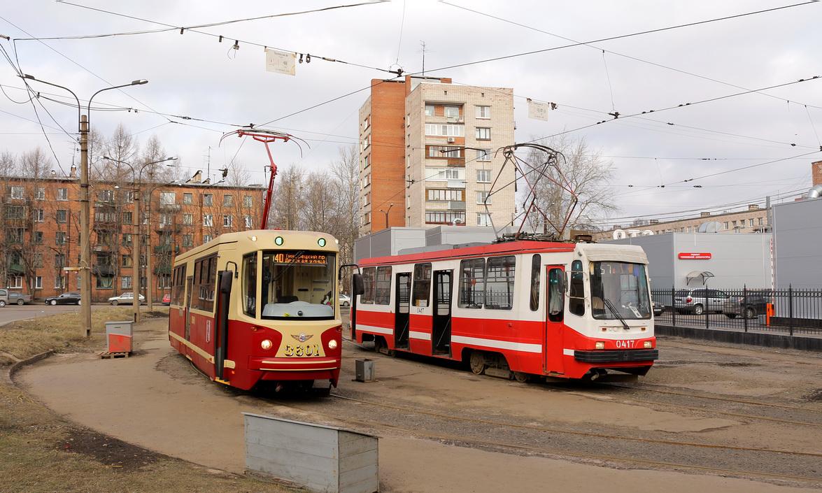 Санкт-Петербург. 71-134К (ЛМ-99К) №0417, ЛМ-68М2 №3601