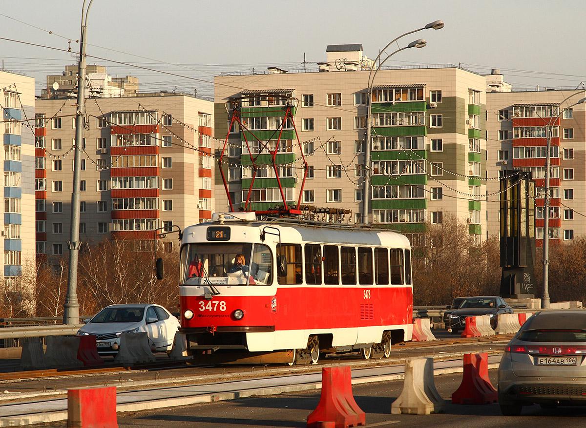 Москва. Tatra T3 (МТТА) №3478