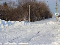 Комсомольск-на-Амуре. Занесенные снегом трамвайные пути
