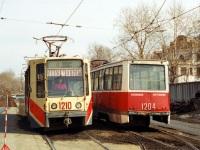 Челябинск. 71-608К (КТМ-8) №1210, 71-605 (КТМ-5) №1204
