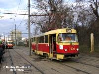 Москва. Tatra T3 (МТТЧ) №3400
