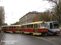 Москва. Tatra T3 (МТТЧ) №1325, Tatra T3 (МТТЧ) №1326, 71-608К (КТМ-8) №4046