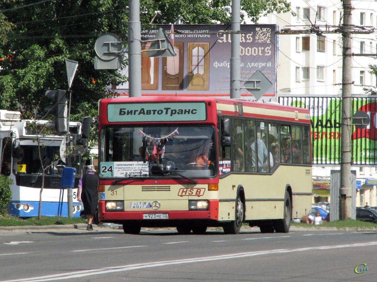 Владимир. Mercedes-Benz O405N н923ме