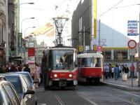 Прага. Tatra T3SUCS №7151, Tatra T6A5 №8651