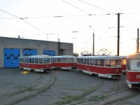 Донецк. Tatra T3 №3957, Tatra T3 №3940, Tatra T3 (двухдверная) №3810, Tatra T3SU №3958