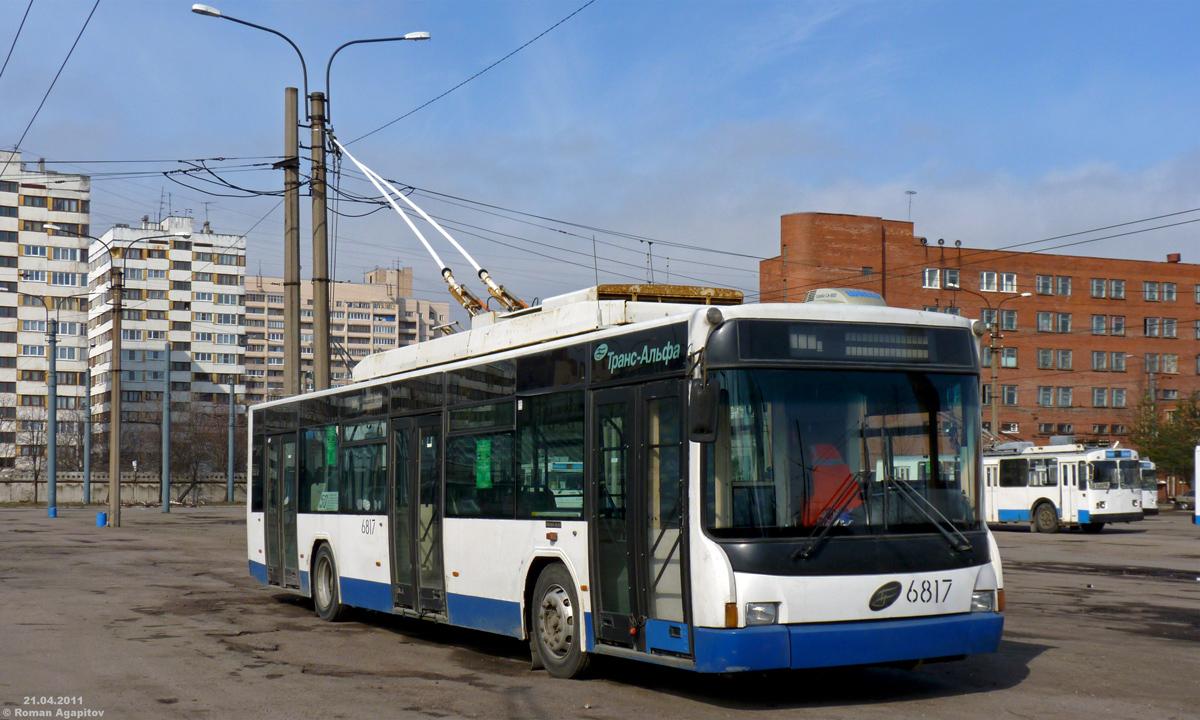 0 троллейбус вмз-5298 6175 в рекламной окраске на 25 маршруте на гаккелевской улице