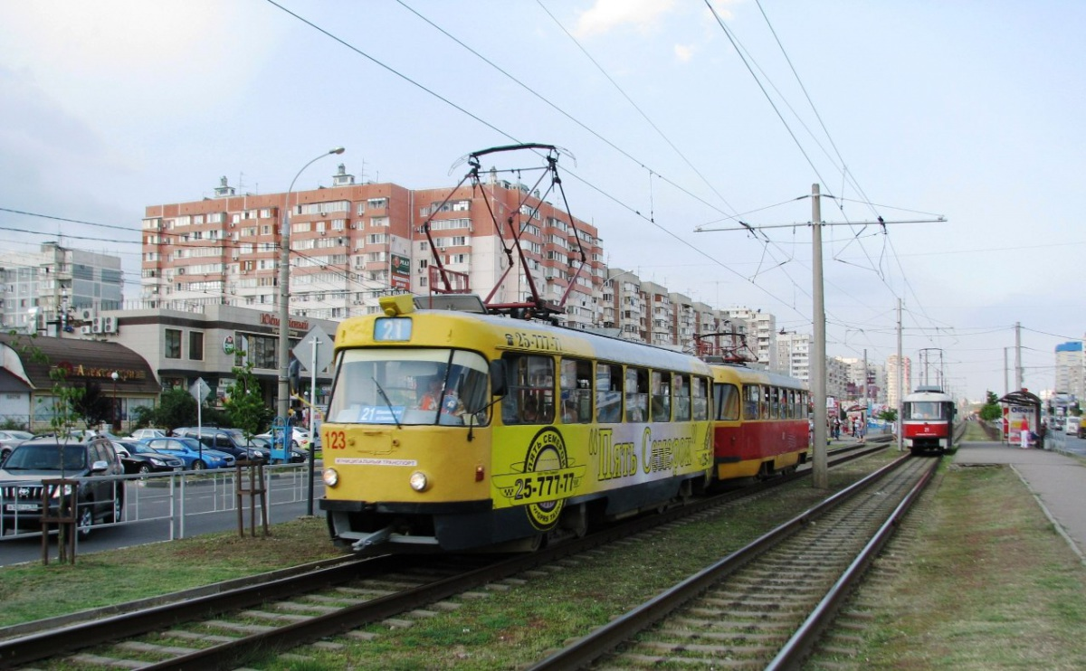 Краснодар. Tatra T3SU №121, Tatra T3SU №123