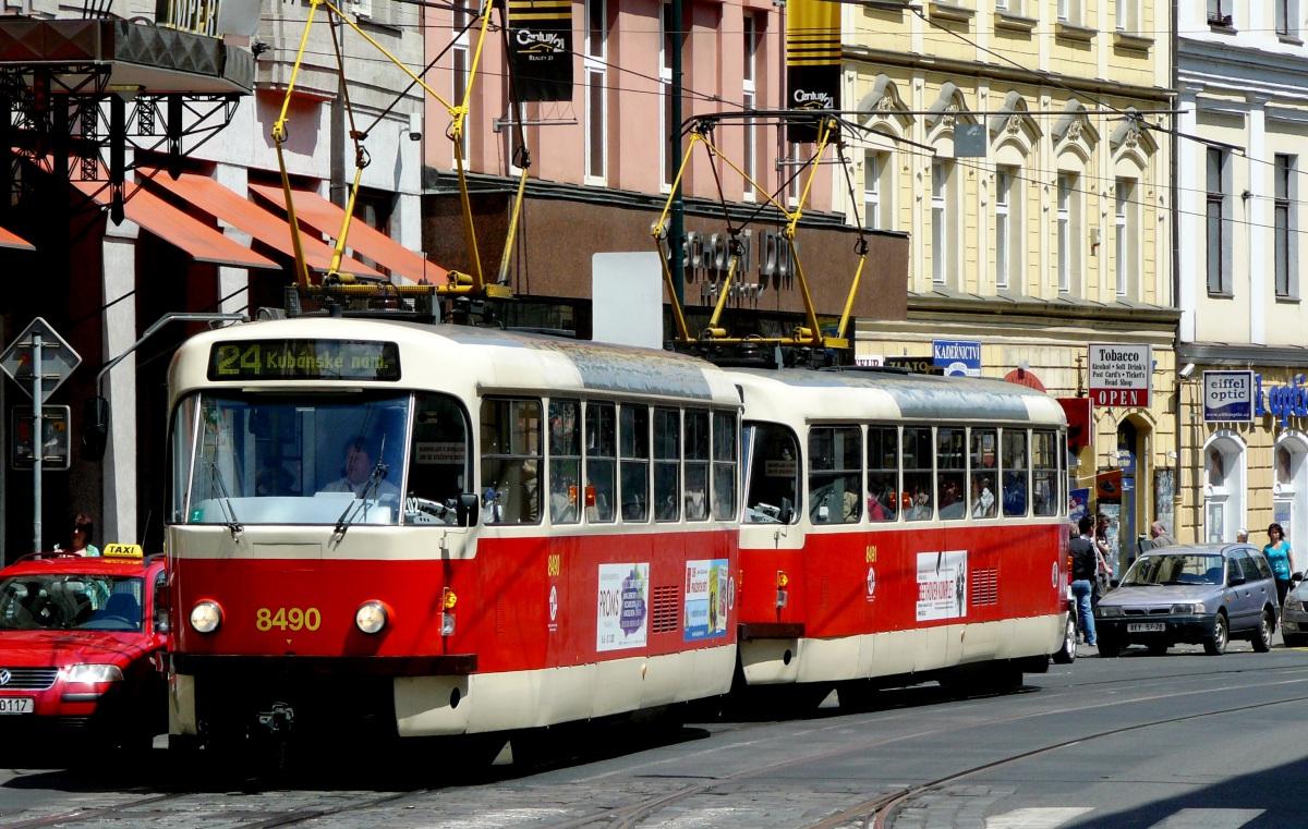 Прага. Tatra T3 №8490, Tatra T3 №8491