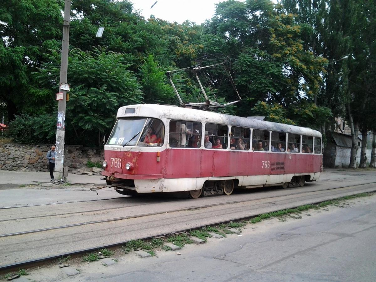 Запорожье. Tatra T3SU №766