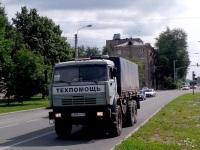 Череповец. Автомобиль технической помощи МУПАавтоколонна 1456 КамАЗ-43114 (а965ну 35) выехал для эвакуации неисправного автобуса