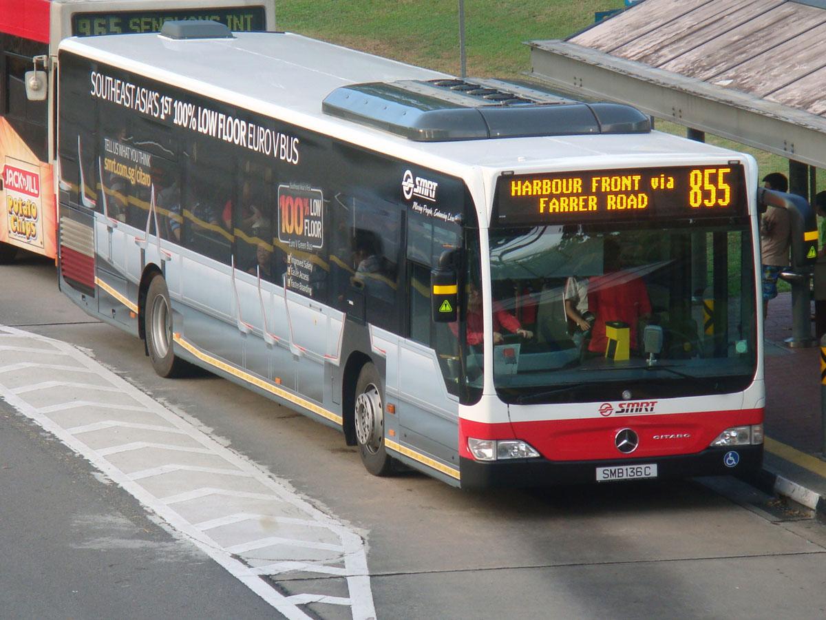 Сингапур. Mercedes O530 Citaro SMB136C