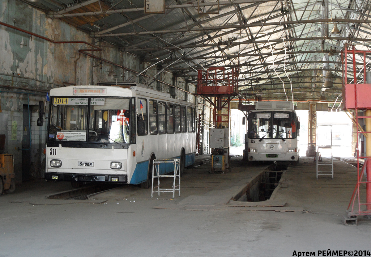 Ростов-на-Дону. Škoda 14Tr01 №311, ЛиАЗ-5280 №335