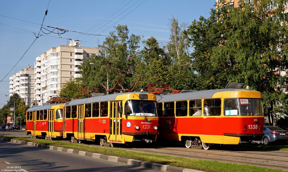 Москва. Tatra T3 (МТТЧ) №1331