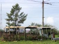 Братск. Разобранный троллейбус, номер неизвестен