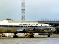 Комсомольск-на-Амуре. Пассажирский самолёт ИЛ-18 № 75409