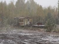 Гусь-Хрустальный. ЭСУ2А, пассажирский вагон ПВ40, платформа
