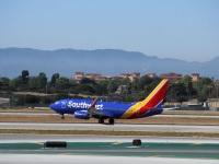 Лос-Анджелес. Самолет Boeing 737 (N7727A) авиакомпании Southwest Airlines