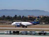 Лос-Анджелес. Самолет Airbus A319 (N515NK) авиакомпании Spirit Airlines