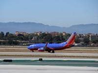 Лос-Анджелес. Самолет Boeing 737 (N412WN) авиакомпании Southwest Airlines