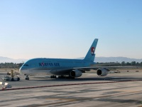 Лос-Анджелес. Самолет Airbus A380 (HL7613) авиакомпании Korean Air