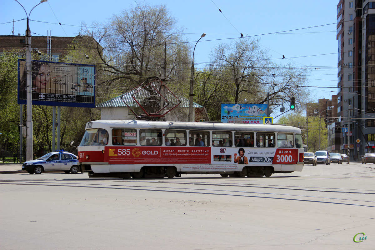 Самара. Tatra T3SU №807