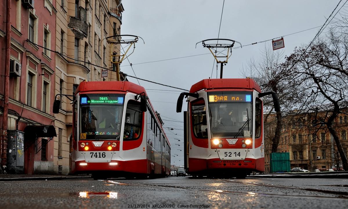 Санкт-Петербург. 71-631-02 (КТМ-31) №5214, 71-631 (КТМ-31) №7416