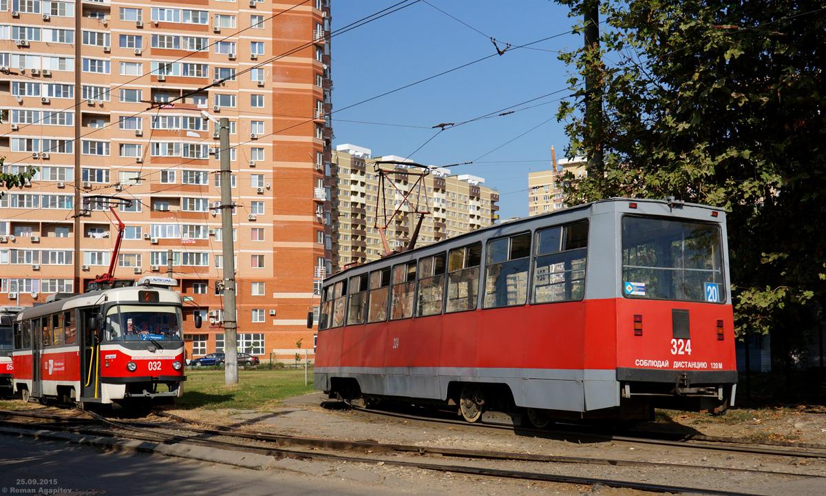 Краснодар. 71-605 (КТМ-5) №324, Tatra T3SU №032