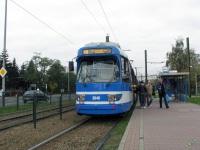 Краков. Трамвай Duewag GT8S № 3040, маршрут 19