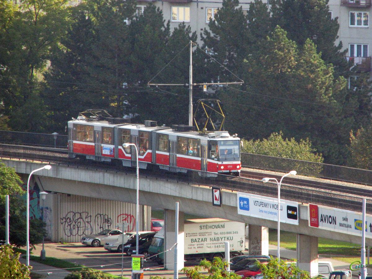 Брно. Tatra KT8D5 №1711
