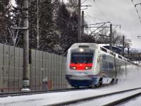 Санкт-Петербург. Скоростной электропоезд Sm6 Allegro, маршрут Санкт-Петербург-Хельсинки