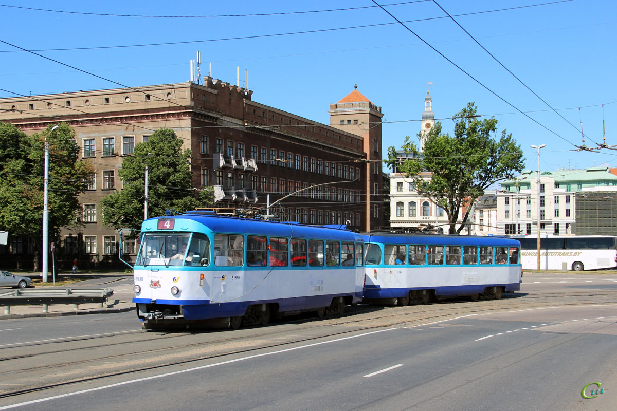 Рига. Tatra T3A №51830, Tatra T3A №51841