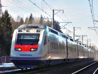 Санкт-Петербург. Скоростной поезд Sm6 Allegro, маршрут Хельсинки-Санкт-Петербург